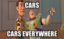 cars everywhere