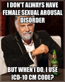 i don't always have female sexual arousal disorder