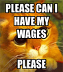 Please can I have my wages